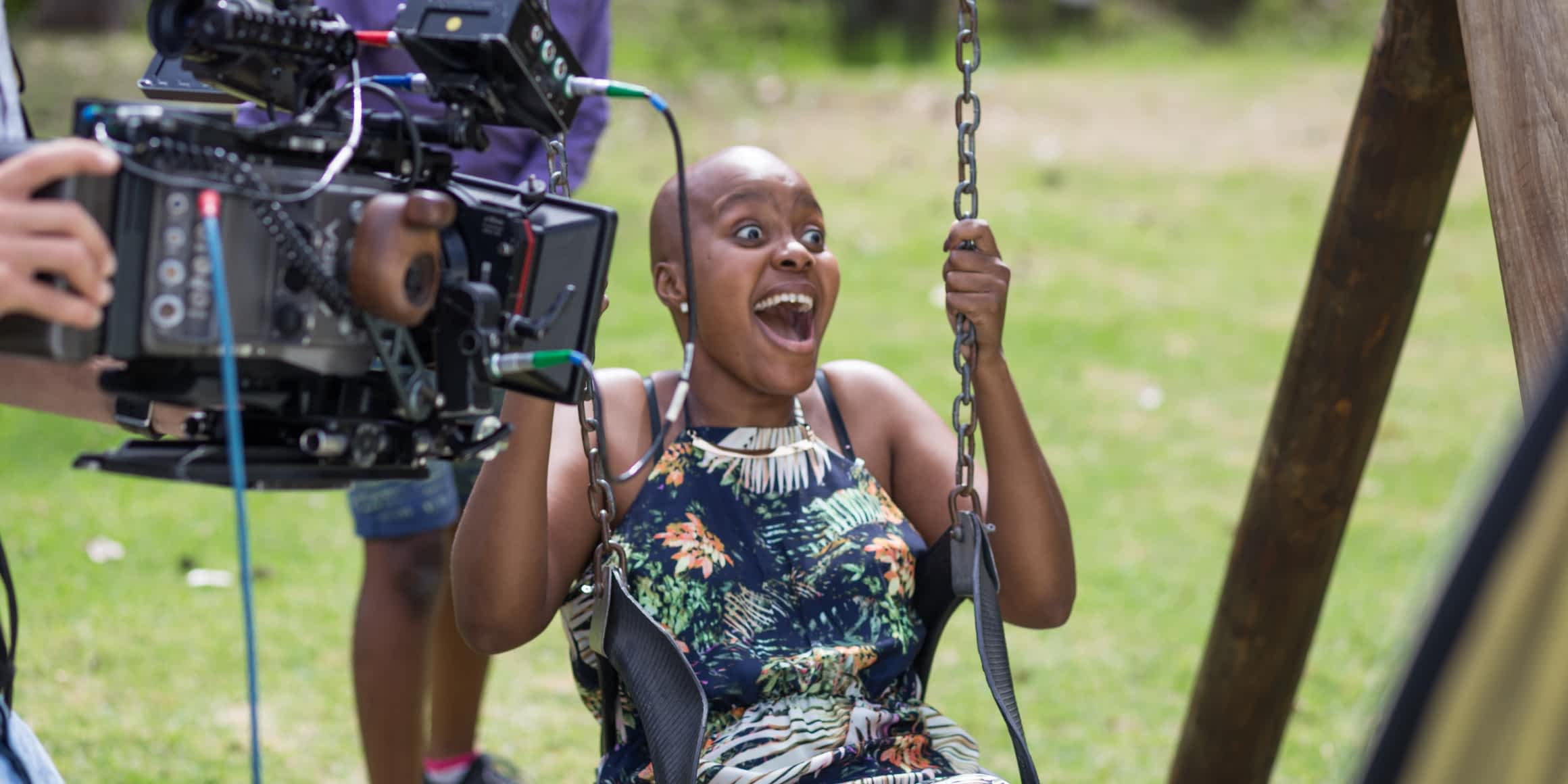 Leukaemia Awareness Campaign - Blood Stem Cell Donor Registration Video - Behind The Scenes - Cancer Patient in Playground Having Fun