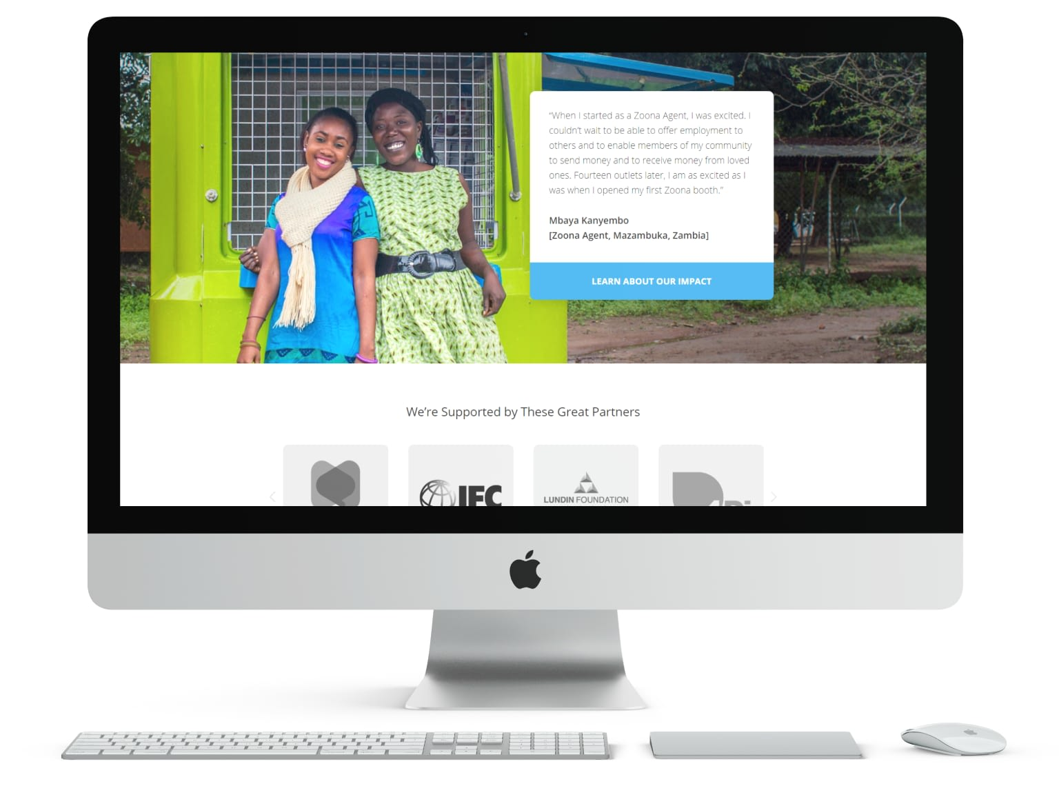Showcase of Zoona Website Design Featuring Zoona Entrepreneurs